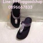 รองเท้า Fitflop Chada สายหนัง สีเทาเงิน No.FF403