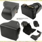 พร้อมส่ง กระเป๋ากล้องหนัง เคสกล้อง Panasonic Lumix GF3 สีดำ