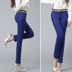 Pre-Order กางทำงานผู้หญิง กางเกงสแล็ค ขาตรง สีน้ำเงิน
