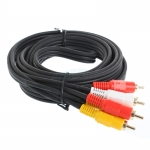 Cable RCA TO RCA 3:3 (3M) Gold 'Glink' 24K