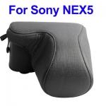 พร้อมส่ง กระเป๋ากล้องหนัง Sony NEX5 สีดำ