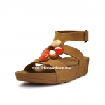 รองเท้า Fitflob Arena Luxe Tan หุ้มข้อ สีน้ำตาลเพชร 7 เม็ด No.FF004
