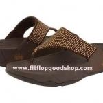 รองเท้า Fitflob Rokkit Bronze เพชรกระจาย สีน้ำตาล No.FF109