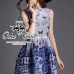 Dolce&Gabbanna beautiful butterfly dress ♡Odee&Cutie Daily Fashion 2015♡ เดรสแบรนด์เนมเนื้อผ้า silk polyester เนื้อผ้ามีความวาวใส ดีเทลพิมพ์ลวดลายบนเนื้อผ้าด้วยระบบดิจิตอล ให้ลวดลายที่คมชัด มีซับในนะคะ ทรงสวยเหมือนนางแบบ