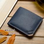 พรีออเดอร์ กระเป๋าสตางค์ผู้ชาย กระเป๋าเงิน กระเป๋าเงินสั้น หนังแท้ สีน้ำเงิน