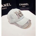(Pre-order) หมวกเบสบอล ปักหมุดเงิน ปักเพชรอคริลิค M ผ้ายีนส์ แฟชั่นหมวกคาวน์บอยเท่ ๆ สีบลูยีนส์ ยีนส์ฟอกสีซีด