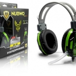 HeadSet+Mic 'NUBWO' (A6) Green