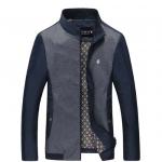 Pre-Order เสื้อแจ็คเก็ตผู้ชายแบบบาง แขนยาว สีทูโทนสีน้ำเงิน แฟชั่นมาใหม่ปี 2015