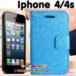 พร้อมส่ง เคสไอโฟน 4/4s สีฟ้า ส่งฟรี EMS