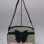 กระเป๋าสะพาย นารายา ผ้าคอตตอน ลายชิโนริ ติดโบว์ (กระเป๋านารายา กระเป๋าผ้า NaRaYa กระเป๋าแฟชั่น)