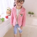 เสื้อสูทเด็กผู้หญิง สีชมพู