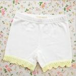 กางเกงขาสั้นซับใน สีขาว PinkIdeal