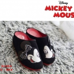รองเท้าเพื่อสุขภาพสไตล์แบรนด์ Mickey Mouse รุ่นหัวปิด วัสดุทำจากผ้ากำมะหยี่นุ่ม