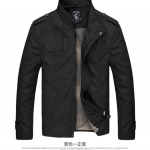Pre-Order เสื้อแจ็คเก็ตผู้ชาย เสื้อแจ็คเก็ตธุรกิจผู้ชาย เสื้อแจ็คเก็ตผู้ชายสไตล์ลำลอง ผ้าฝ้ายผสมเส้นใยสังเคราะห์ สีดำ