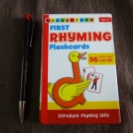 first rhyming flash cards