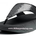 รองเท้า Fitflob Electra ปักเลื่อมเกรดปลา สีดำ No.FF010