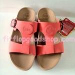 รองเท้า Fitflob New สวมเข็มขัดโลโก้ สีแดง No.FF186
