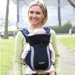 เป้อุ้มเด็ก Tomy Freestyle Premier Carrier สีดำ นำเข้าจาก อังกฤษ improved parent and baby comfort 100% cotton