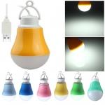 5V 5W USB Powered Bulb LED Lamp คละสี
