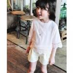 เสื้อเด็กหญิงสีขชมพู ชายลูกไม้ สำเนา