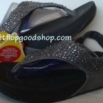 รองเท้า Fitflob Limited รุ่นเพชรกระจายใบไม้รัดส้น สีเทา No.FF167