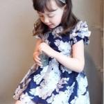 เสื้อผ้าเด็ก ชุดเดรสเด็ก ชุดกระโปรง Phelfish เดรสเด็กสีน้ำเงิน