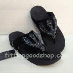 รองเท้า Fitflop Rockchic เพชรเม็ดเล็ก รุ่นใหม่ สีดำ  No.FF363
