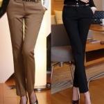(Pre-Order) กางเกงทำงาน กางเกงขายาว กางเกงสูท ทรงดินสอ แฟชั่นกางเกงสไตล์เกาหลีปี 2014