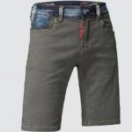 (Pre-Order) กางเกงขาสั้น กางเกงลำลอง สีน้ำตาล แต่งด้วยผ้าบูลยีนส์ หินขัดสีขาว กางเกงหนุ่มมาดเข้ม หนุ่มมาดแมน แฟชั่นเกาหลี
