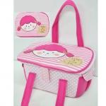 กระเป๋าตะกร้าใส่ของเด็กอ่อน สีชมพู