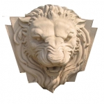 หัวสิงโต แกะสลัก