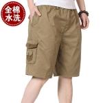 Pre-order กางเกงขาสั้น กางเกงลำลองฤดูร้อน แฟชั่นกางเกงขาสั้นสำหรับหนุ่ม ๆ สีกากี