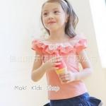 เสื้อเด็กหญิง PinkIdeal เสื้อสีชมพู ผูกโบว์ด้านหลัง