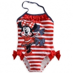 Minnie Mouse Striped One-Piece Swimsuit for Girls Size4