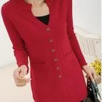 (Pre-Order) เสื้อไหมพรมถักจากผ้าขนสัตว์แคชเมียร์ แฟชั่นเสื้อสไตล์เกาหลี สีแดง