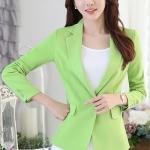 เสื้อสูทแฟชั่น : เสื้อสูทแฟชั่น พร้อมส่ง เสื้อสูท สีเขียว คอปก ผ้าคอตตอน 100 % เนื้อดี คุณภาพงานพรีเมี่ยม งานตัดเย็บเนี๊ยบ แขนยาว ดีเทลกระดุมสุดเก๋ เสริมหัวไหล่เข้ารูป มีซับใน กระเป๋าใช้งานได้ค่ะ
