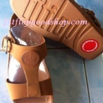 รองเท้า Fitflob New สวมเข็มขัดโลโก้ สีน้ำตาล No.FF188
