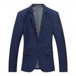 Pre-Order เสื้อสูท สูทเบลเซอร์ แขนยาว ผ้าฝ้ายผสม สูทแฟชั่น สูทเข้ารูป สีฟ้าเข้ม