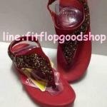 รองเท้า Fitflob Limited รุ่นเพชรกระจายใบไม้ No.FF641