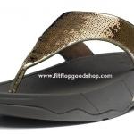 รองเท้า Fitflob Electra ปักเลื่อมเกรดปลา สีน้ำตาล No.FF011