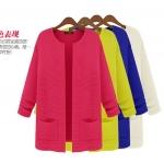 (Pre-Order) เสื้อไหมพรม เสื้อสเวตเตอร์ ถักจากผ้าฝ้าย แฟชั่นเสื้อสไตล์เกาหลี มี 8 สี คือ สีบานเย็น สีแดง สีเทา สีดำ สีเหลือง สีน้ำเงิน สีเบจ สีชมพู