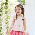 เสื้อผ้าเด็กผู้หญิง เสื้อกล้ามเด็กสีชมพู Phelfish