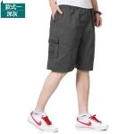 Pre-order กางเกงขาสั้น กางเกงลำลองฤดูร้อน แฟชั่นกางเกงขาสั้นสำหรับหนุ่ม ๆ สีเทาเข้ม