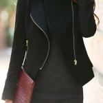 Pre-Order เสื้อสูททำงาน เสื้อสูทผู้หญิง สูทลำลอง สูทคอวีมีปก แขนยาว แฟชั่นชุดทำงานสไตล์เกาหลี สีดำ