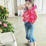 เสื้อผ้าเด็ก PinkIdeal2016 รุ่นใหม่ เสื้อัอดพลีส สีชมพู