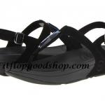 รองเท้า Fitflob Chada เพชรเม็ดเรียว รัดส้น สีดำ No.FF215