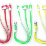 Cable Charger for 4in1 micro ip4/4s/5c/5s คละสี