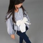 เสื้อเด็กหญิง Phelfish สีฟ้า สไตล์ญี่ปุ่น