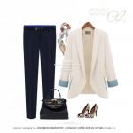 (Pre-Order) กางเกงผู้หญิงทำงานแฟชั่นเกาหลี กางเกงขายาวทรงตรง หรือทรงกระบอกเล็ก ผ้าชีฟองหนาปานกลาง สีดำ