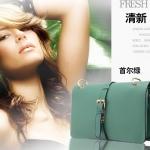 (Pre-Order) กระเป๋าแฟชั่นเกาหลี กระเป๋าสะพาย กระเป๋าคลัทช์ แฟชั่นกระเป๋าญี่ปุ่น-เกาหลี ปี 2013 สีเขียว